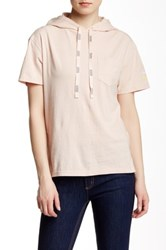 Marc By Marc Jacobs Hooded Sporty Tee Beige