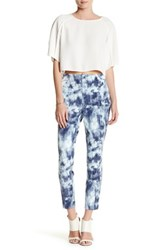Lysse Printed Twill Cigarette Pant Blue
