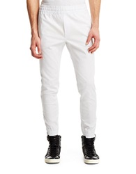 Kenneth Cole Stretch Cotton Straight Leg Pants White