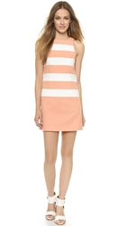 4.Collective Striped Sleeveless Slim Shift Dress White Sandy Pink