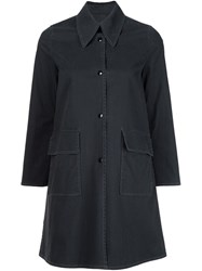 Maison Martin Margiela Mm6 Single Breasted Coat Black