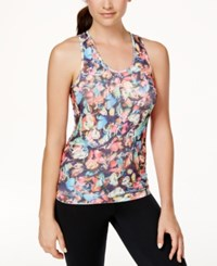 Jessica Simpson Warm Up Printed Seamless Tank Top Butterfly