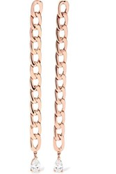 Anita Ko 18 Karat Rose Gold Diamond Earrings One Size
