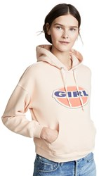 Re Done Girl Hoodie Sunfaded Pink