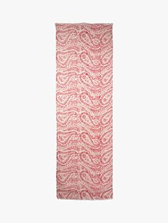 Jaeger Paisley Print Scarf Red