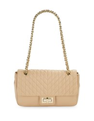 Karl Lagerfeld Quilted Leather Purse Nude