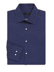 Ike By Ike Behar Regular Fit Micro Patterned Shirt Blue White