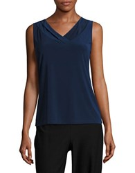 Tahari By Arthur S. Levine Shirred Jersey Top
