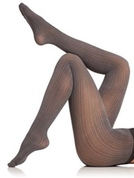 Wolford Sophia Two Tone Striped Tights Black Ash