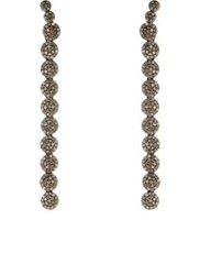 Carole Shashona Women's Comet Long Drop Earrings Silver