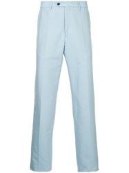Gieves And Hawkes Straight Leg Trousers Blue
