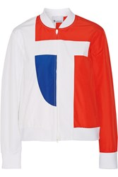 Alexander Wang Color Block Cotton Blend Poplin Jacket White
