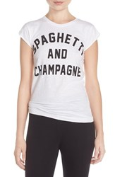 Women's Happiness 'Spaghetti And Champagne' Cotton Tee