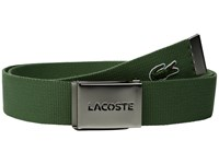 Lacoste 40Mm Woven Strap Belt Dill Men's Belts Green