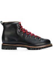 Car Shoe Lace Up Boots Black