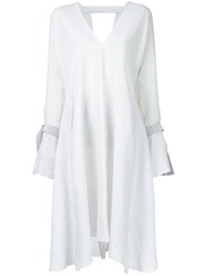 Kitx Seersucker V Neck Dress White