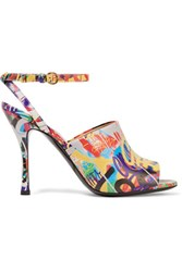 Moschino Printed Leather Sandals Multi
