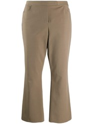 Theory Mid Rise Cropped Trousers Neutrals