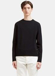 Valentino Popstud Leather Strap Sweater Black