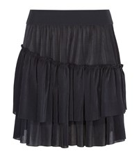 Claudie Pierlot Shell Tiered Skater Skirt Female Black