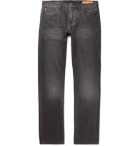 Jean Shop Mick Slim Fit Washed Selvedge Denim Jeans Black