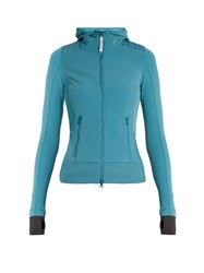 Adidas By Stella Mccartney Base Layer Zip Through Performance Jacket Blue