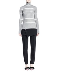 Balenciaga Graphic Striped Turtleneck Sweater