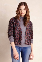 La Fee Verte Confetti Stitch Cardigan Blue Motif