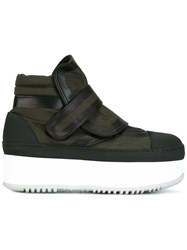 Marni Sneaker Ankle Boots Green