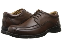 Dockers Trustee Dark Tan Leather Men's Lace Up Bicycle Toe Shoes Brown