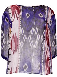 Forte Forte Patterned Sheer Tunic Top 60