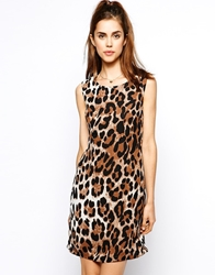 Max C London Max C Leopard Shift Dress Brown