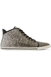Marc By Marc Jacobs Glittered Canvas Sneakers Black