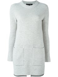 Proenza Schouler Long Ribbed Jumper Grey