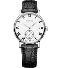 Chopard Classic Manufacture 18Ct White Gold And Alligator Leather Watch