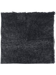Avant Toi Long Knitted Scarf Black