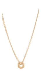 Marc By Marc Jacobs Tiny Bolts Necklace Oro