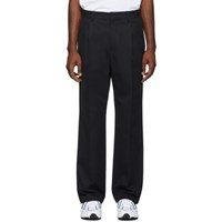 Msgm Black One Pleat Trousers