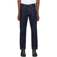 Hugo Blue Solid Relaxed Fit Jeans