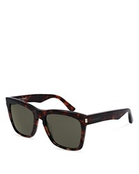 Saint Laurent Oversized Rectangular Sunglasses 55Mm Brown