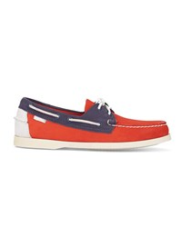 Sebago Orange And Blue Spinnaker Nubuck Boat Shoes
