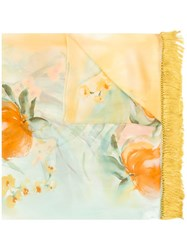 Gianfranco Ferre Vintage Scarves Yellow And Orange
