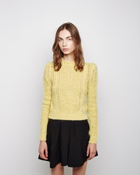 Isabel Marant Gracie Cable Knit Pullover Yellow