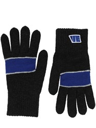 Ader Error Wool And Acrylic Gloves Black