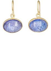Judy Geib Women's Lovely Tanzanite Drop Earrings Colorless