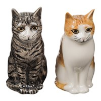 Quail Ceramics Moggy Salt And Pepper Shakers Patience And Squash