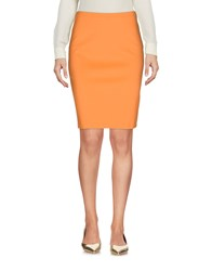 1 One Knee Length Skirts Orange
