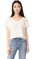 Current Elliott The Slouchy Scoop Tee Dirty White W Mint Cactus