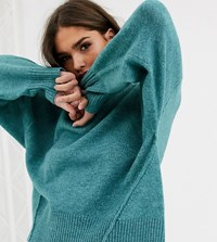 Micha Lounge Relaxed Jumper With Balloon Sleeves Green
