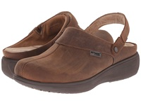 Softwalk Edge Pro Dark Brown Oily Leather Women's Clog Shoes